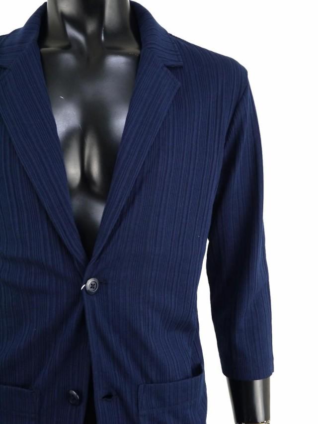 eefdcf171faf31 暑い季節に重宝する通気性の良い薄手のテーラードジャケット。程よい伸縮性のあるストレッチ素材でスタイリッシュな7分袖。きちんとした印象を残しつつ楽な着心地を  ...