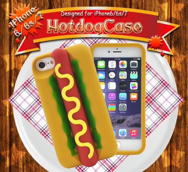 dfa8f7e9e4 iPhone8/iPhone7/iPhone6/iPhone6s インパクト大!ユニークなホットドッグケース アイフォン