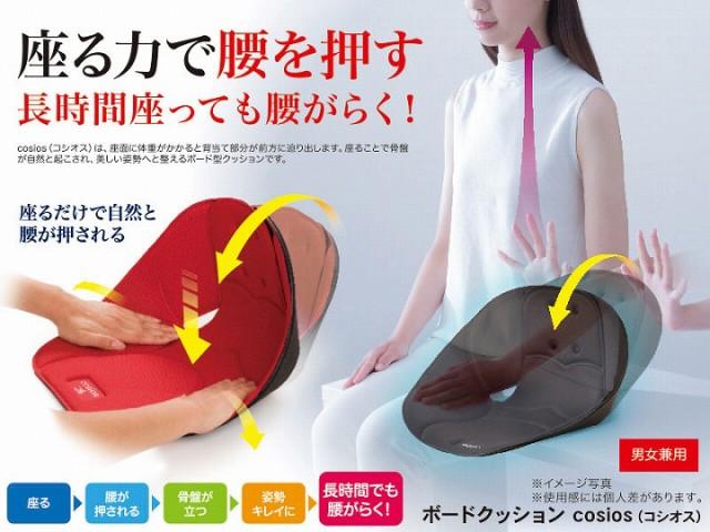 座る力で腰を押す 長時間座っても腰がらく!