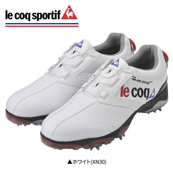 【幅3E】 ルコック QQ0595 ゴルフシューズ ホワイ...
