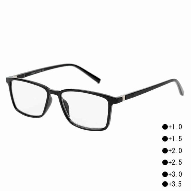 シニアグラス 老眼鏡 黒縁 おしゃれ RG-F07