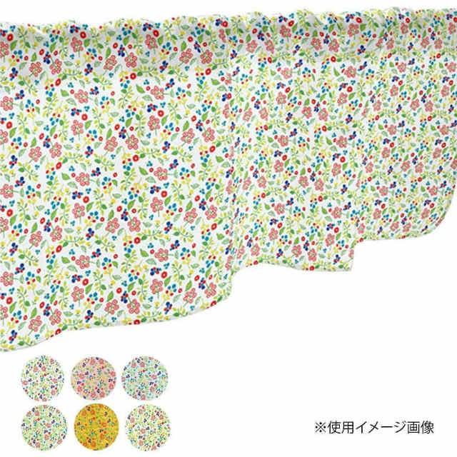 カフェカーテン 植物小柄 800×450mm