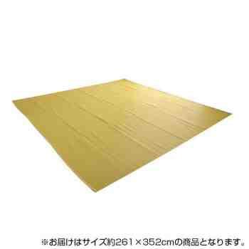 日本製 洗えるカーペット ベージュ 江戸間6畳(約2...