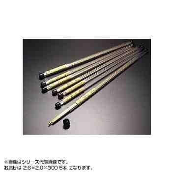 真鍮パイプ 塩ビ管入り 2.6×2.0×300 (5本入り) ...