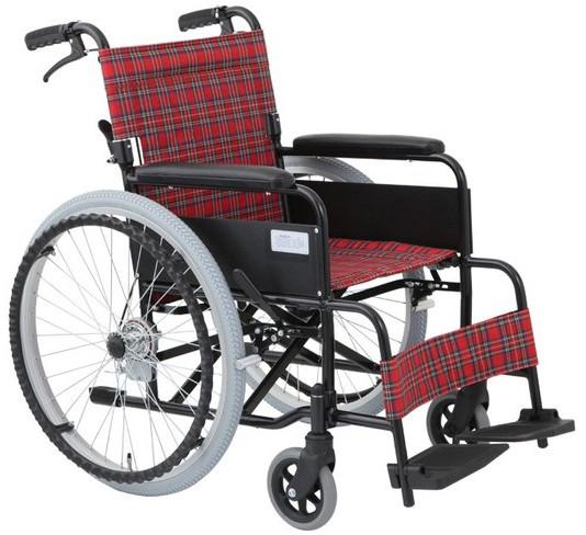 【介護用品】アルミ自走式車いす アミー22 MW-22A...