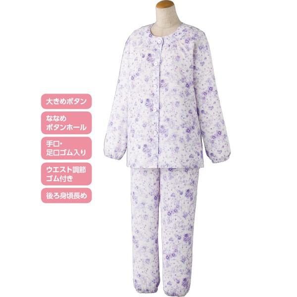 婦人 春夏向けパジャマ 上下セット 楊柳パジャマ ...