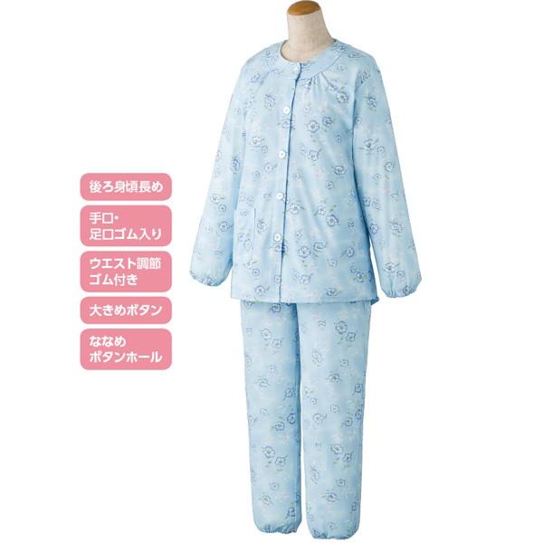 婦人 オールシーズンパジャマ 上下セット 袖ぐり...