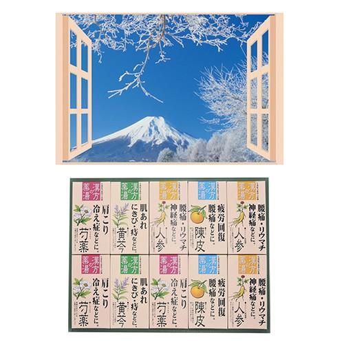 昭プラ お風呂のポスター 四季彩 雪富士 + 薬用入...