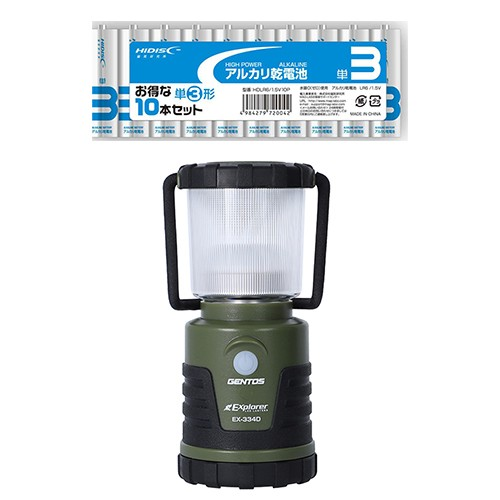 GENTOS Exploler LEDランタン + アルカリ乾電池 ...