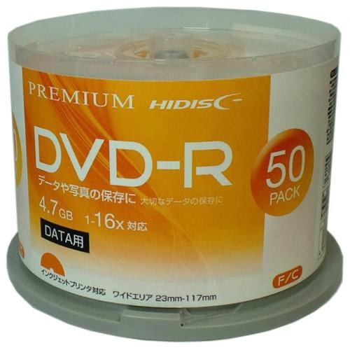 PREMIUM HIDISC 高品質 DVD-R 4.7GB 50枚スピンド...