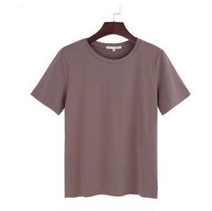 モカ Tシャツ ハイウエスト シンプル ゆったり ベ...