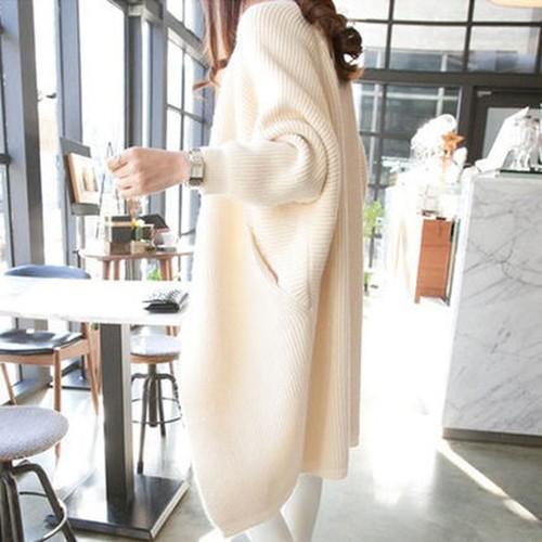 カーディガン 6color フェミニン コート風 ロング...