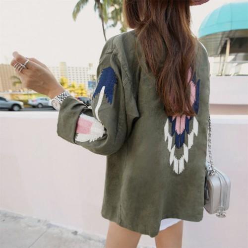 ミリタリー 刺繍 ジャケット 2色 送料無料