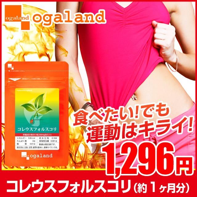 コレウスフォルスコリ(約1ヶ月分)3150円以上送料無料 ダイエット サプリメント 油分 糖分 カロリー フォルスコリン