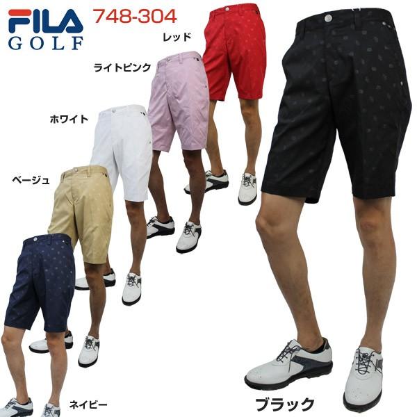 フィラゴルフ メンズ ゴルフウェア 飛び柄エンボ...