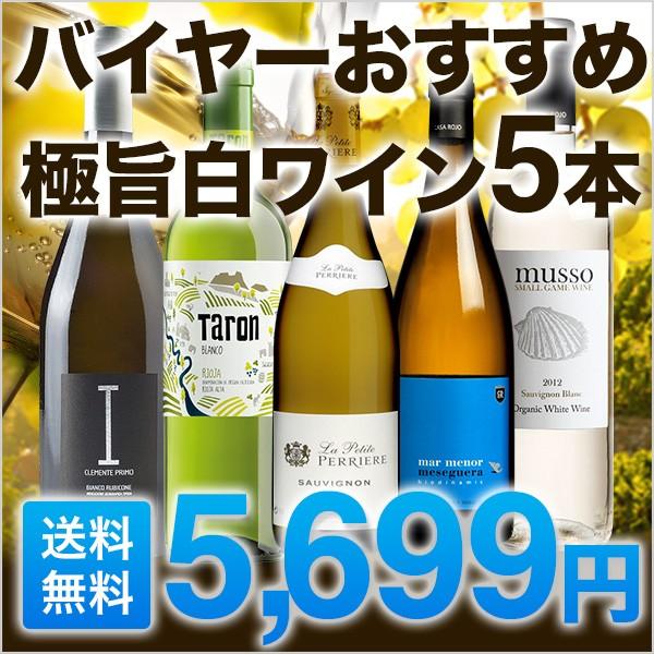 ワインセット 白ワイン 5本セット 極旨 送料無料