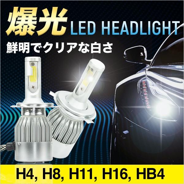 LED ヘッドライト 4000lm H4 Hi/Lo H8 H11 H16 HB...