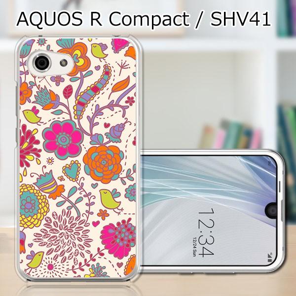 AQUOS R compact SHV41 ハードケース/カバー 【花...