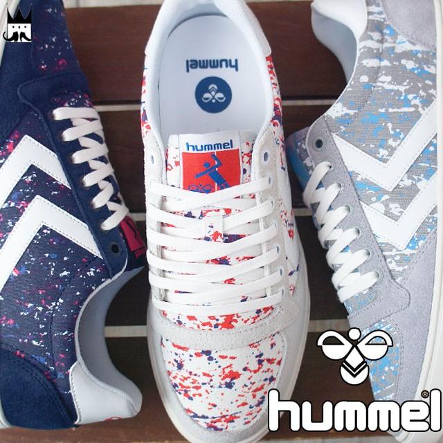 ヒュンメル hummel スリマー スタディール プリント ロー メンズ レディース スニーカー 201589 Slimmer Stadil Print Low ローカット