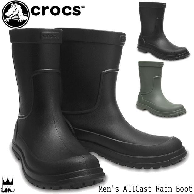 クロックス crocs メンズ レインブーツ 204862 長...