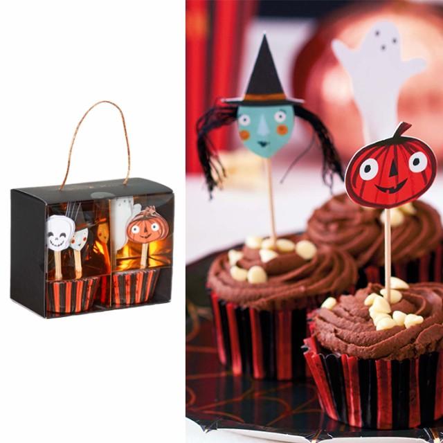 MeriMeri ハロウィンカップケーキキット ハロウィン ハロウィン雑貨 デコレーション デコグッズ 飾り 装飾品 パーティー