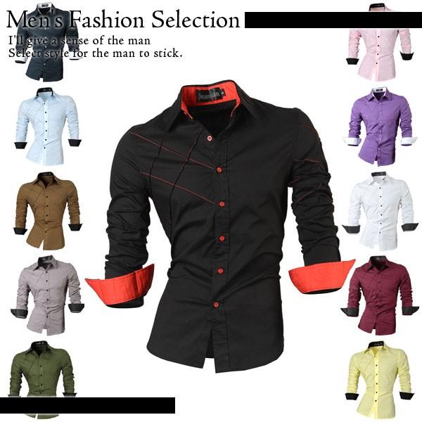 11カラー ソーシャルシャツスリムフィット メンズ...