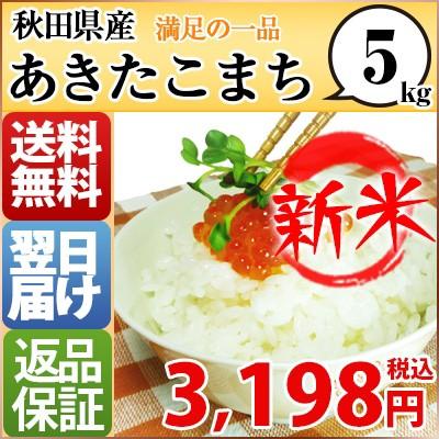 新米 お米 5kg 安い 29年産 秋田県 白米か玄米 あ...