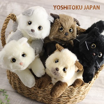 即納 猫のぬいぐるみ 日本製(猫 ぬいぐるみ リア...