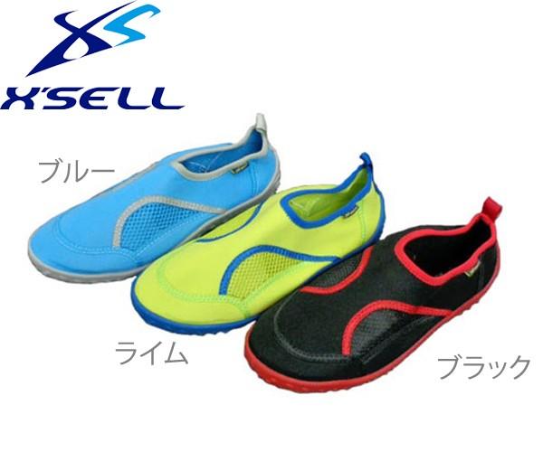 X'SELL(エクセル) BS885 ビーチシューズ アクア...