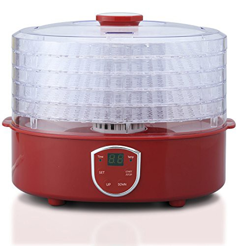 レッド フードドライヤー 食品乾燥機 ドライフル...