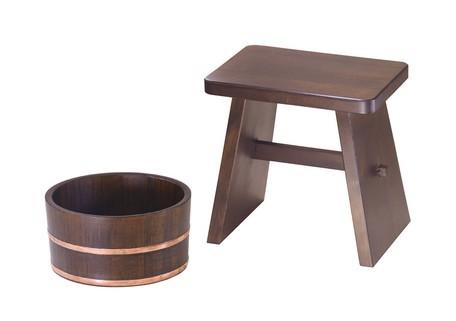 古代色 風呂桶(銅タガ・丸型)/風呂椅子 バス雑貨...