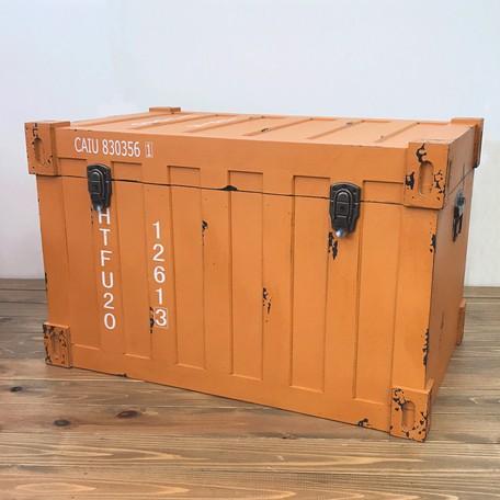 収納ボックス コンテナ型 L イエロー トランクケ...