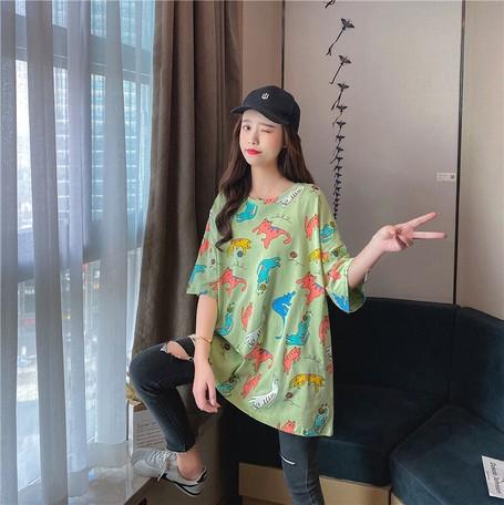 大きいサイズ 韓国 レディース ファッション Tシ...