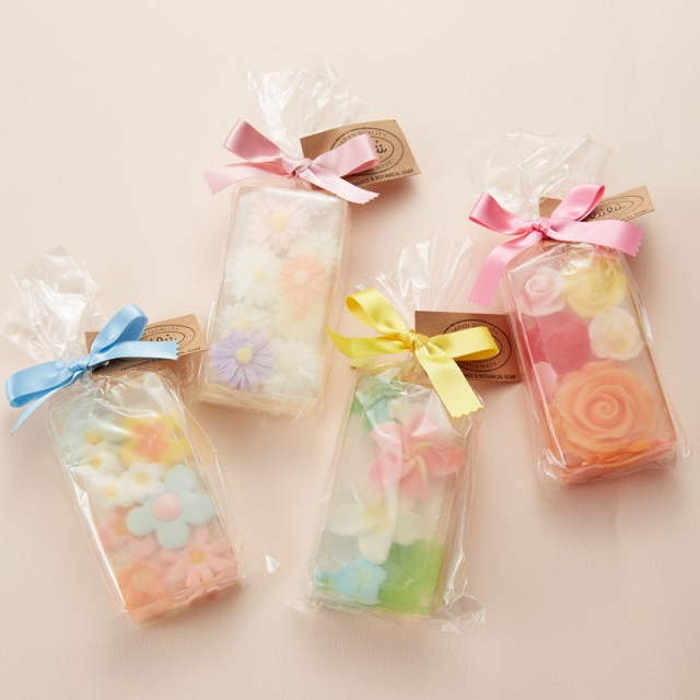 【★ギフト★】愛らしいお花デザインの石鹸 リィ...