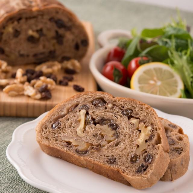 天然酵母パン くるみパン レーズンパン 自然素材 無添加 卵不使用 2個 セット パン 送料無料