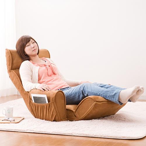 肘掛け付き ハイバック座椅子 ふんわり 低反発ウレタン リクライニングチェア [150-SNC090]【送料無料】
