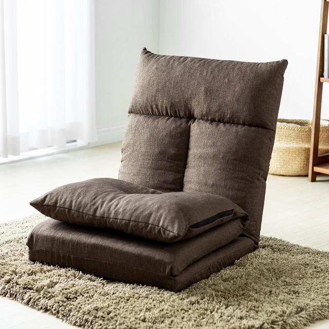 座椅子ベッド ソファーベッド 1人掛け 背もたれ5...