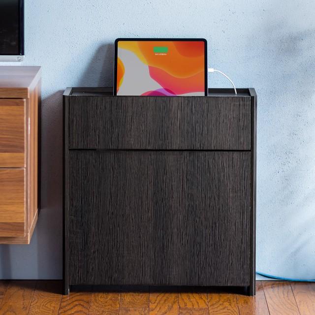 ケーブルボックス 幅50cm 電波を遮りにくい木製 ...