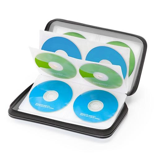 BD対応 ファイルケース 72枚収納 CD DVD ブルーレ...