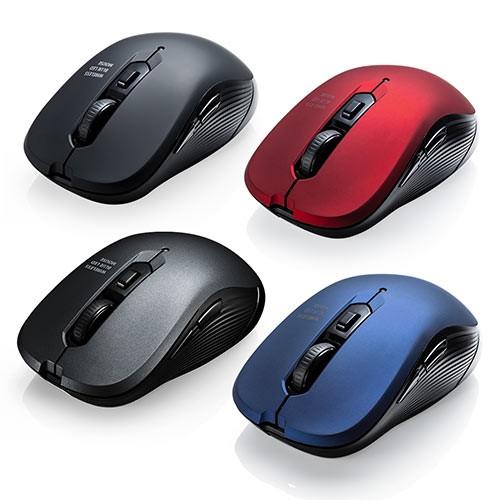 ワイヤレスマウス 高感度 ブルーLEDセンサー 6ボ...