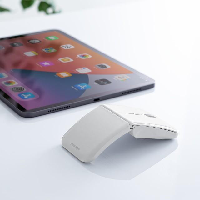 折りたたみ Bluetoothマウス ホワイト 3台 マルチ...