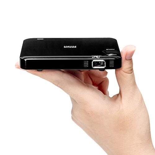 小型 モバイルプロジェクター HDMI接続 内蔵バッテリー 2時間駆動 名刺サイズ [400-PRJ023]