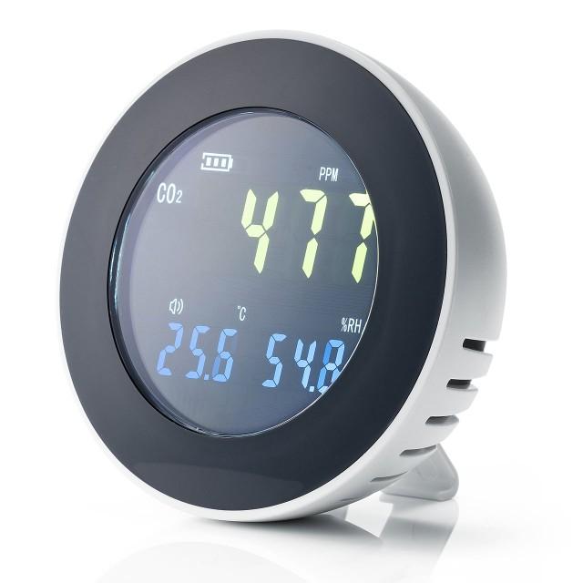 二酸化炭素濃度測定器 CO2 温度 湿度計 USB充電式...