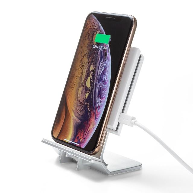 Qi ワイヤレス充電器 スタンド型 iPhone 7.5W 急...
