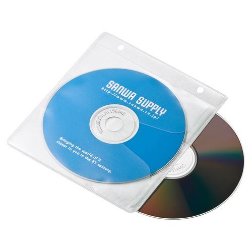 CD / DVD/ BD 不織布ケース リング穴付き 両面収...
