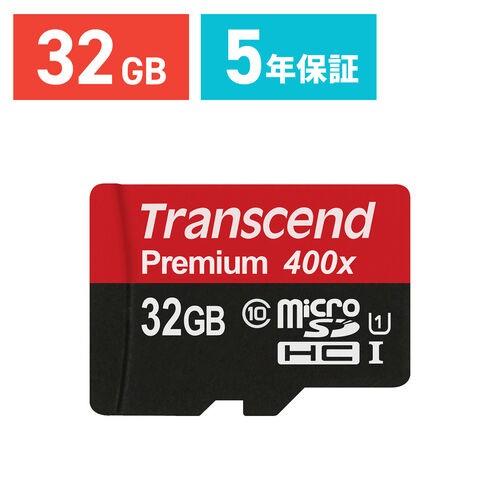 microSDカード 32GB class10 UHS-I 400倍速 Trans...