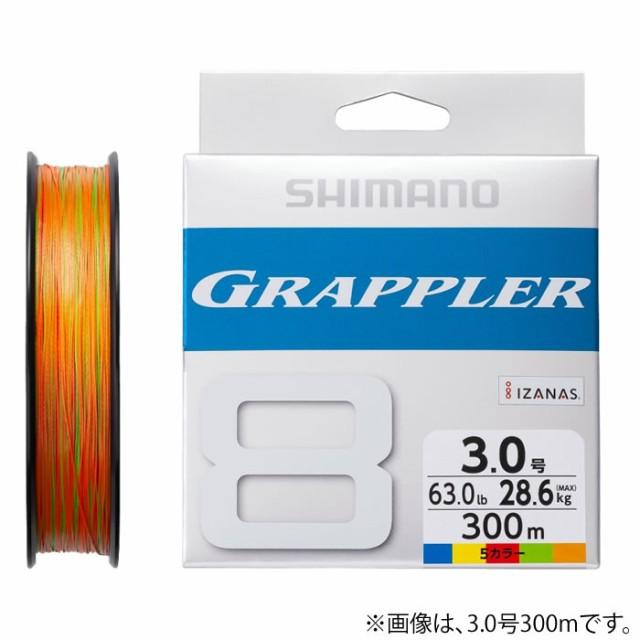 シマノ グラップラー8PE 10m×5カラー 300m LD-A7...