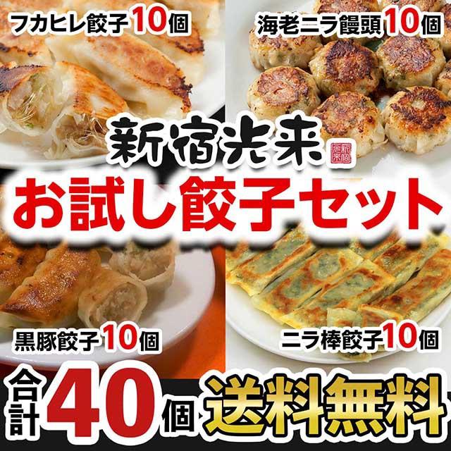 新宿光来「おためし餃子セット40個 」フカヒレ餃...