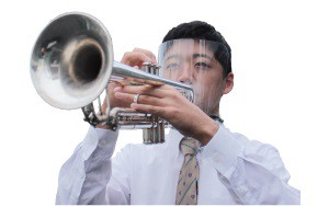 吹奏楽用 フェイスシールド(タイプ−B)【対象楽...