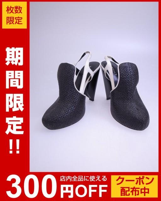 EMODA(エモダ)編込みパンプス/黒/白//A-ランク//S...